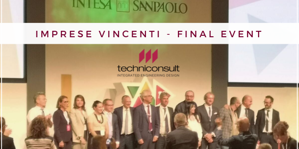 "Techniconsult awarded by Banca Intesa San Paolo at the event ""Imprese Vincenti"""